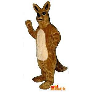 Kangaroo costume beige. L'Australia - MASFR007015 - Mascotte di canguro