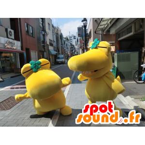 2 mascotte Kashiwani grande successo coccodrilli giallo - MASFR27208 - Yuru-Chara mascotte giapponese