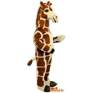 Bela e realista mascote girafa