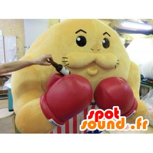 Mascotte Todorokki, pugile di colore giallo con guanti e pantaloncini - MASFR27212 - Yuru-Chara mascotte giapponese