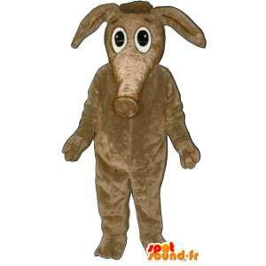 Tapir beige Anzug.Kostüm Tapir - MASFR007020 - Maskottchen Ameise