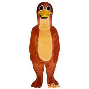 Maskot rød pingvin, duck. Duck Costume