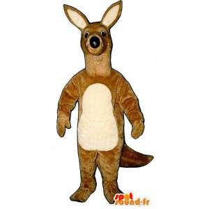 Mascotte de kangourou mignon et réaliste