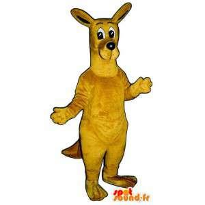 Amarelo traje canguru. traje canguru