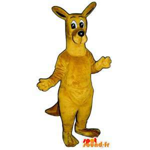 Costume de kangourou jaune. Déguisement de kangourou