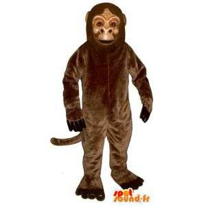 Brązowy małpa maskotka, realistyczny