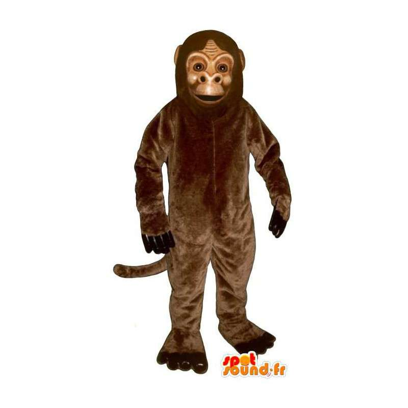 Brown scimmia mascotte, molto realistico - MASFR007026 - Scimmia mascotte