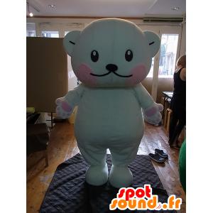 Purikumakun mascotte, grande orsacchiotto bianco e rosa - MASFR27248 - Yuru-Chara mascotte giapponese
