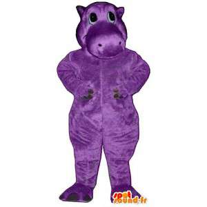 Mascotte paars nijlpaard - Klantgericht Costume