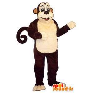 Monkey kolorze. brązowy małpa kostium