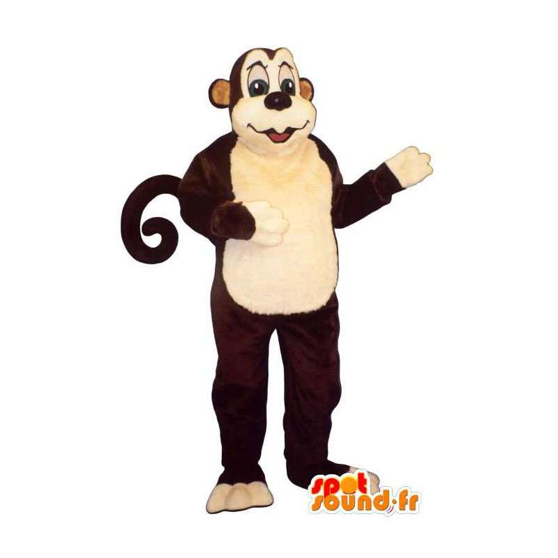 Traje del mono.Brown traje del mono - MASFR007035 - Mono de mascotas