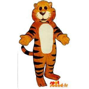 Pomarańczowy tygrys paski czarny garnitur