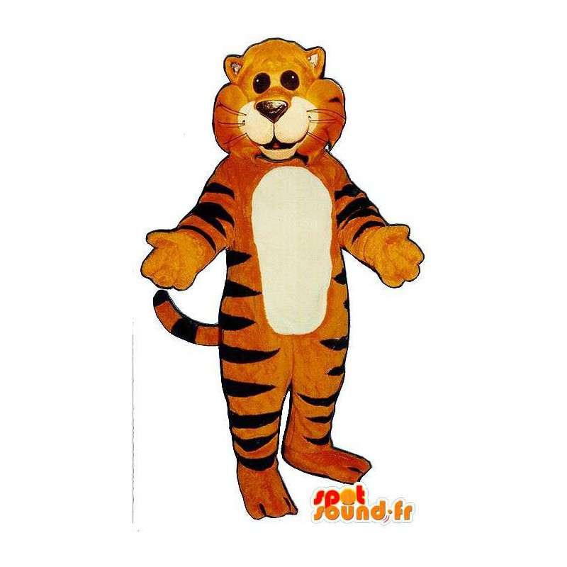 Tiger costume orange with black stripes - MASFR007037 - Tiger mascots