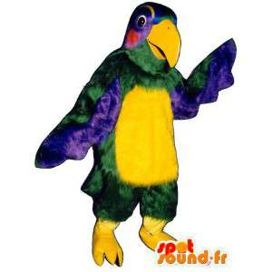 Mascot realistische veelkleurige papegaai
