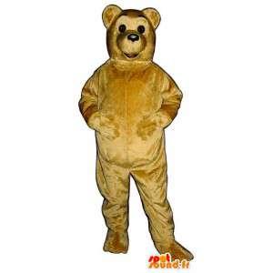 Beige nalle maskotti. Beige Bear Suit - MASFR007042 - Bear Mascot