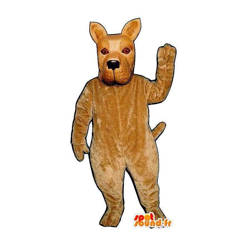 Mycket realistisk beige hundmaskot - Spotsound maskot