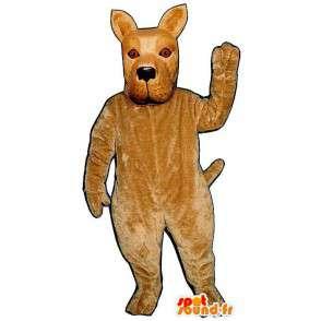 Realistinen beige koira maskotti - MASFR007049 - koira Maskotteja