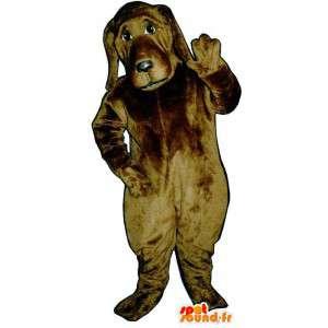 Brown dog costume. Costumes realistic dog - MASFR007051 - Dog mascots