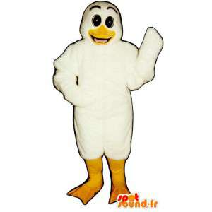 Mascotte de canard blanc. Costume de canard blanc