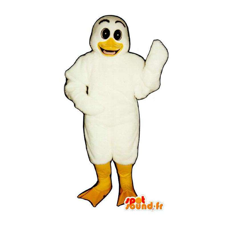 Mascotte de canard blanc. Costume de canard blanc - MASFR007052 - Mascotte de canards