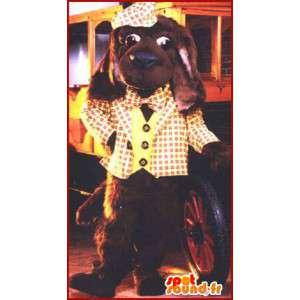 Kostüm braun Hund gekleidet Scottish gelb - MASFR007054 - Hund-Maskottchen