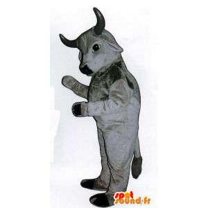 Mascotte de vache, de taureau gris