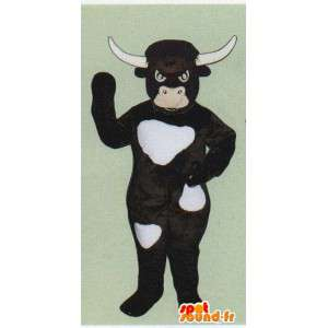 Cow costume, dark brown bull