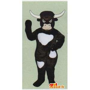 Terno vaca, touro castanho escuro