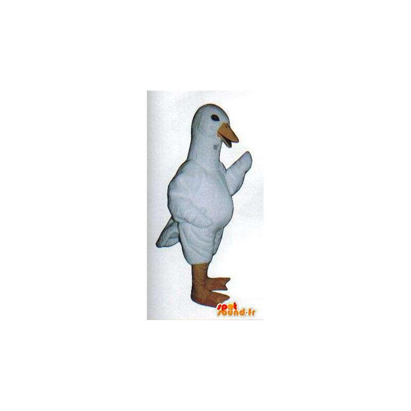 Mascotte d'oie blanche. Costume de canard blanc - MASFR007067 - Mascotte de canards