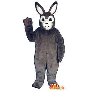 Grå og hvit kanin maskot. Rabbit Costume - MASFR007073 - Mascot kaniner