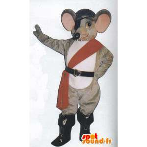 Mascotte de rat en tenue de pirate