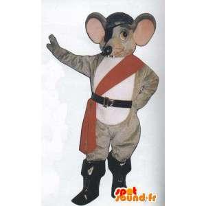 Maskottchen Ratte Piraten-Outfit