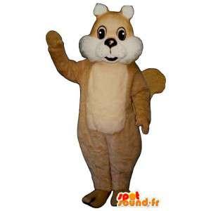 Mascotte d'écureuil beige clair