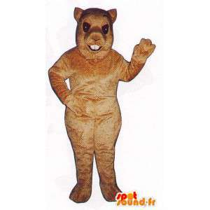 Lys brun ekorn kostyme