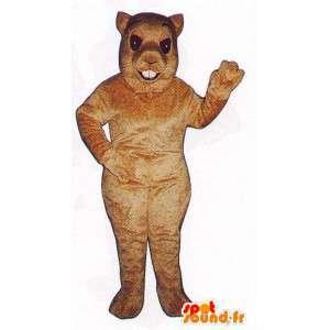 Suit light brown squirrel - MASFR007082 - Mascots squirrel