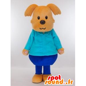 Mascotte Yasubei kun, cane marrone vestita di blu - MASFR27435 - Yuru-Chara mascotte giapponese
