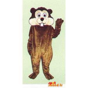 Brown e mascote castor branco - MASFR007084 - Beaver Mascot