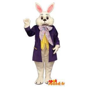 Kaninchen-Maskottchen lila Anzug - MASFR007085 - Hase Maskottchen