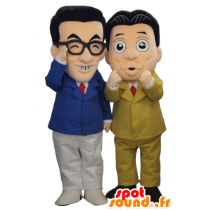 Professores mascotes Yasushi Kiyoshi, 2 homens em ternos - MASFR27484 - Yuru-Chara Mascotes japoneses