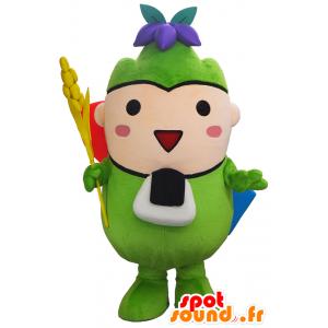 Atsumarukun mascotte, l'uomo verde, allegro e carino - MASFR27496 - Yuru-Chara mascotte giapponese