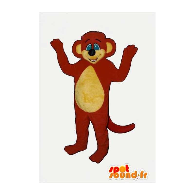 Mascot red and yellow monkey. Monkey Suit - MASFR007091 - Mascots monkey