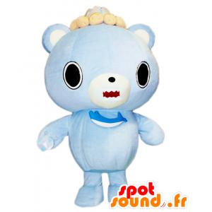 Shari-tsu mascotte, blu e bianco orsacchiotto con un pesce - MASFR27526 - Yuru-Chara mascotte giapponese