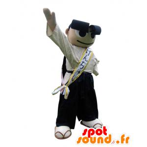 Mascotte Genchan, uomo con grandi sopracciglia nere - MASFR27534 - Yuru-Chara mascotte giapponese