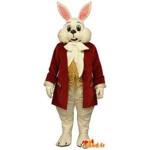 Mascotte de lapin blanc en costume - MASFR007095 - Mascotte de lapins