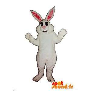 Weiße Kaninchen Maskottchen Riesen - MASFR007096 - Hase Maskottchen