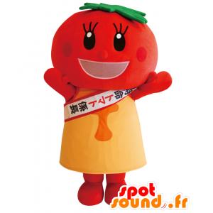 Tomati mascotte, pomodoro rosso, rotondo, gigante e sorridente - MASFR27563 - Yuru-Chara mascotte giapponese