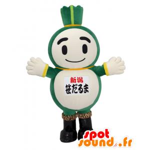Sasa-Dharma mascotte, porro gigante, verde e bianco - MASFR27598 - Yuru-Chara mascotte giapponese