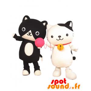 2 gatti mascotte. Mascotte Mana-chan e Yu-kun - MASFR27654 - Yuru-Chara mascotte giapponese