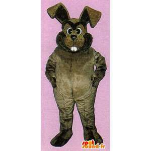 Mascot big chubby bunny brown - MASFR007107 - Rabbit mascot