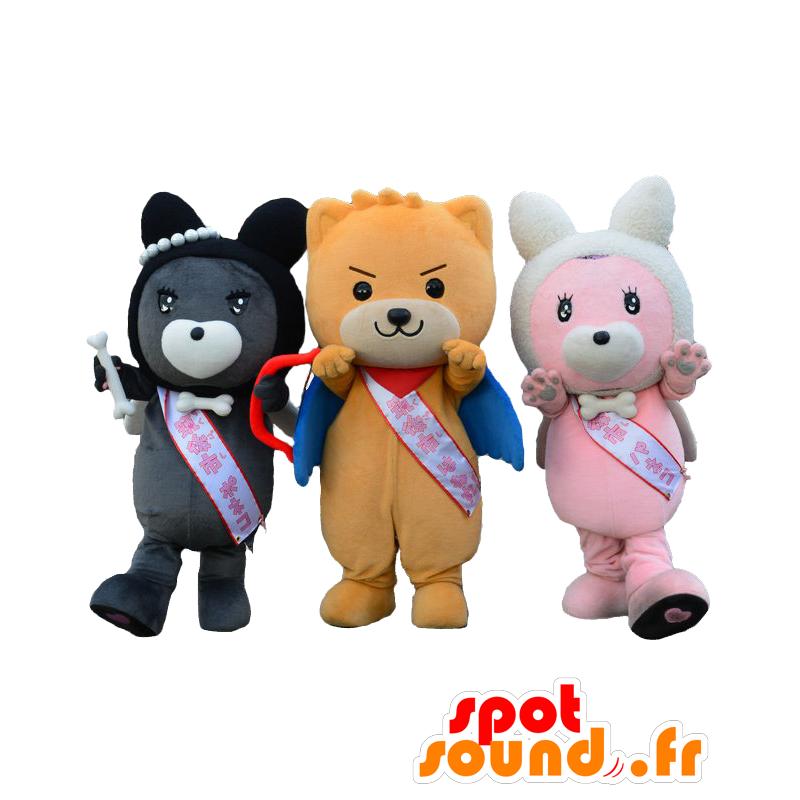 418c667f887a 3 mascotas Hanemaru y Paneko-Poneko. Mascotas Perro - MASFR27668 -  Yuru-Chara